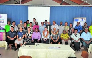 Delegation of European Union in the Pacific and Pacific Islands Forum Secretariat staff members with Community Based Organisation participants from the Suva-Nausori district. Photo: Fiji Council of Social Services
