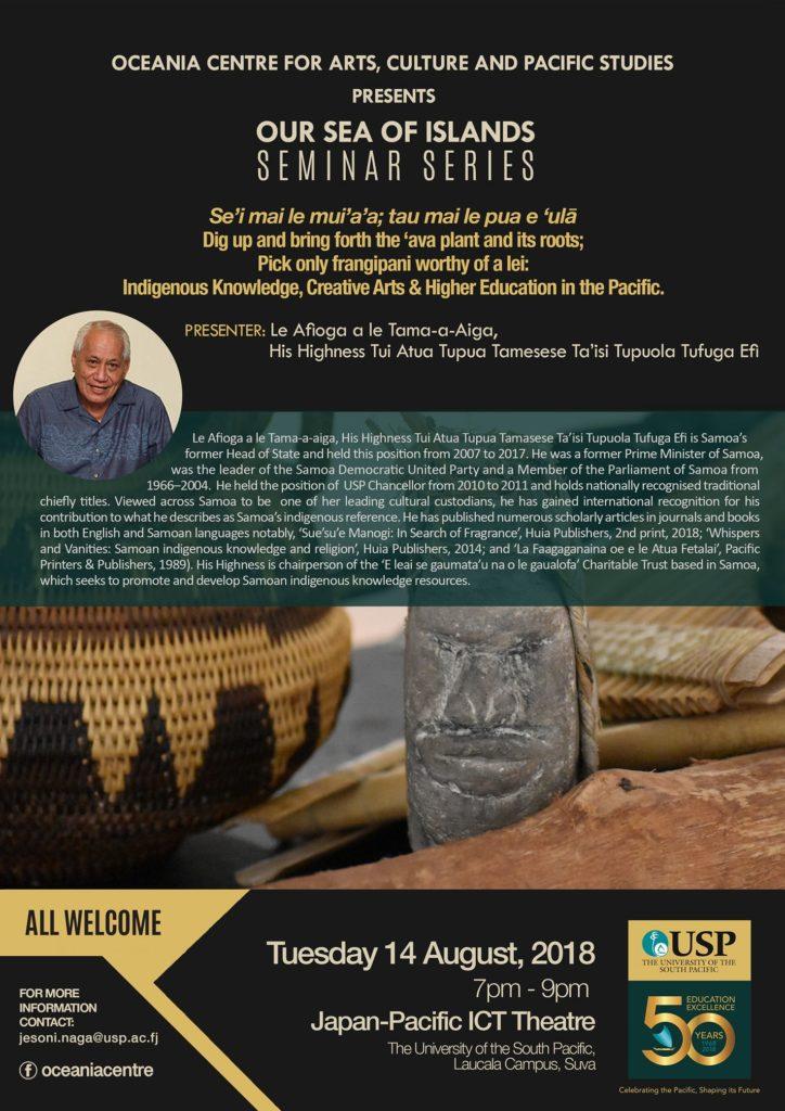 Our Sea Of Islands Seminar Series