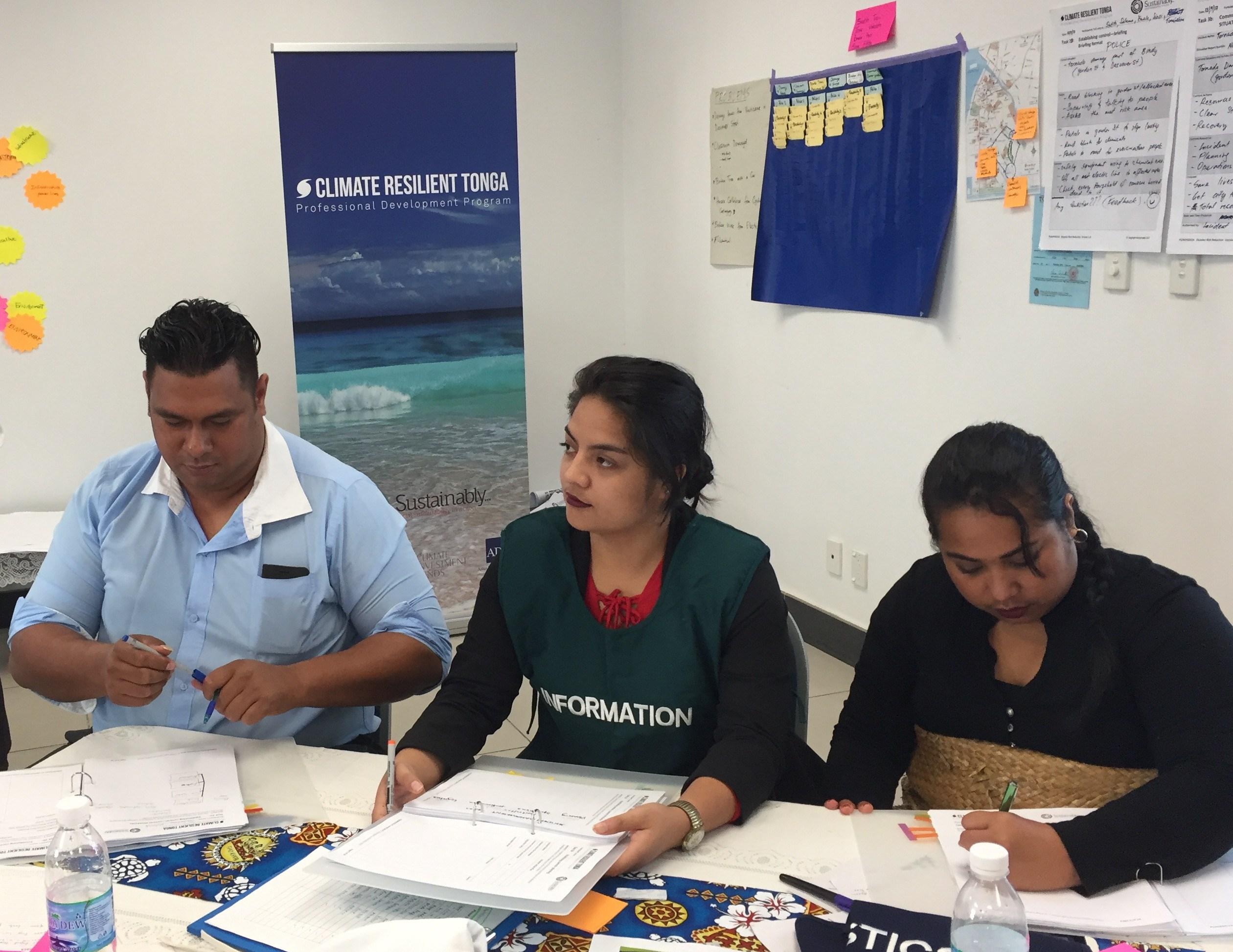Resilience Profiling Workshop in Tonga