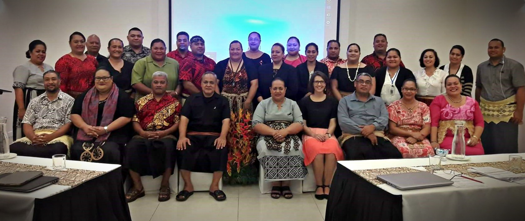 Planners and budget staff from the Tongan Government attend the MFNP Risk Screening Workshop in Nuku'alofa (Photo: UNDP Tonga)