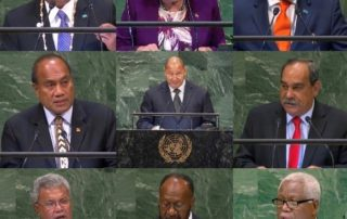 Pacific leaders at the UN