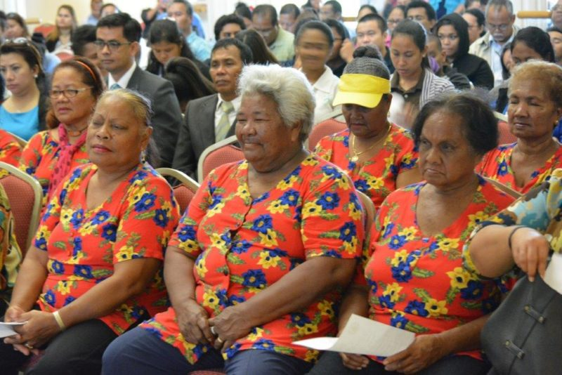 Attendees at the 2017 Palau State of the Republic Address. Photo: PalauGov.pw