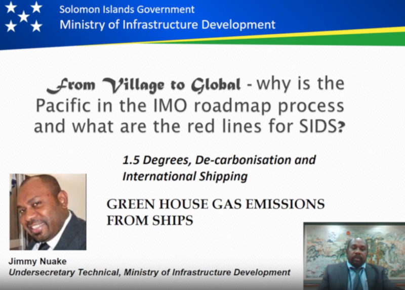 From Village to Global - why is the Pacific in the IMO roadmap process and what are the red lines for SIDS
