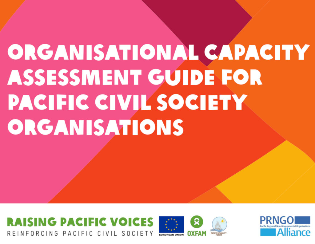 Organisational Capacity Assessment Guide for Pacific Civil Society Organisations