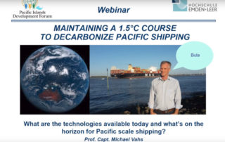 Maintaining A 1.5°C Course To Decarbonize Pacific Shipping - Presentation by Prof. Capt. Michael Vahs