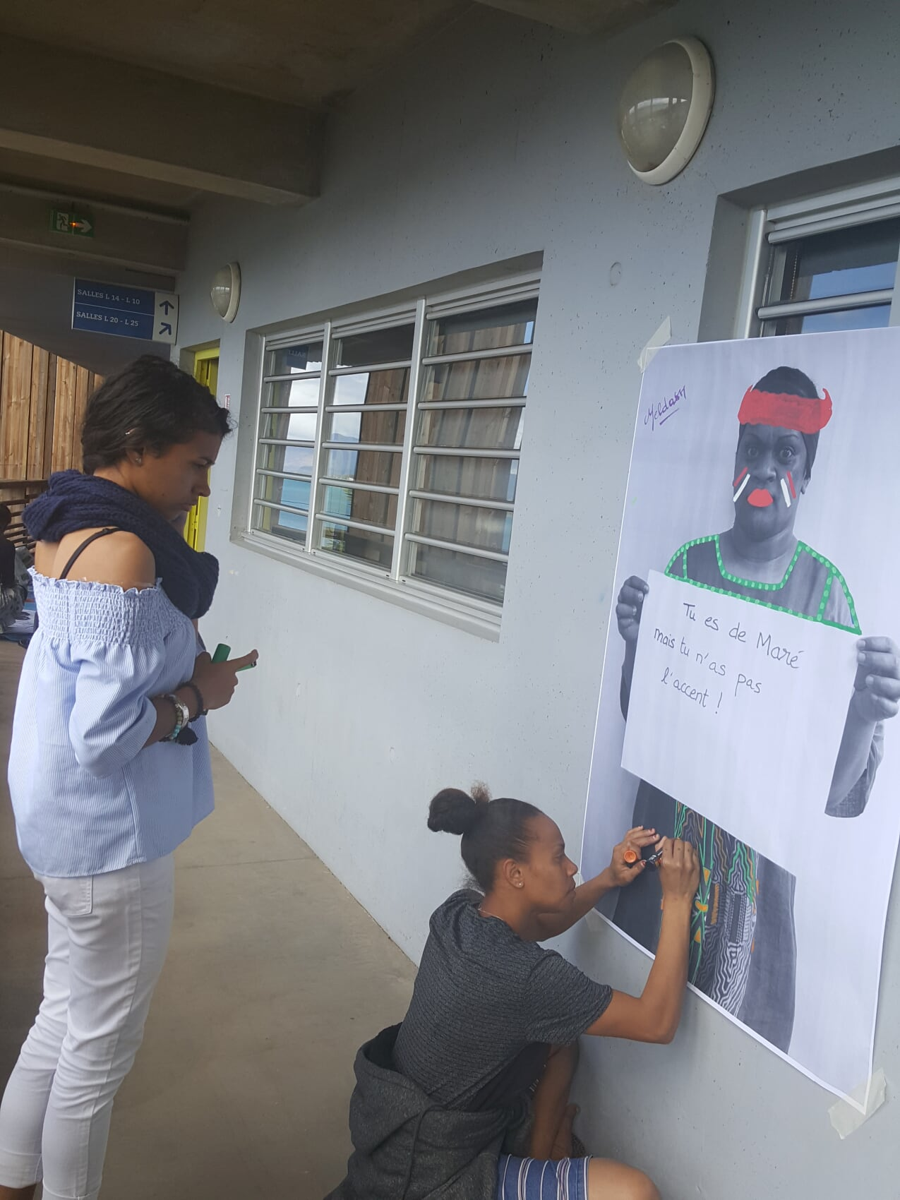 Figure 30: Students redesigning their self-portraits with Yann Skyronka