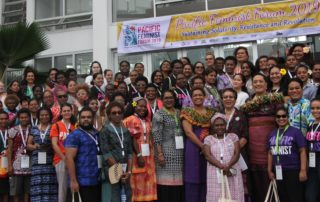 Delegates to the second Pacific Feminist Forum