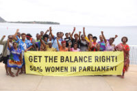 VSCIN women deliver statement to UN.