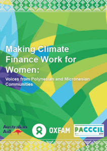 Making climate finance work for women: Voices from Polynesian and Micronesian communities