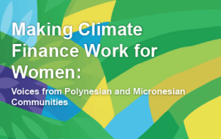 Making finance work for Pacific women
