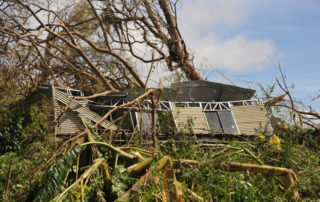 """Luganville, Vanuatu: Scenes of destruction from Cyclone Harold which tore through the island nations of Vanuatu, Fiji, Tonga and the Solomon Islands in April 2020. A category 5 storm it carried with it wind gust of over 275km/h and up to 18"""" of rain in parts. Despite the COVID-19 pandemic Oxfam has been responding through local office and partners."""